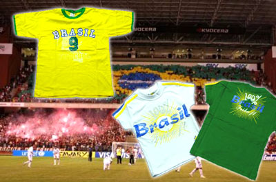 moda infanto juvenil da copa do mundo 2010 na áfrica do sul, camisetas da copa, camisetas do Brasil